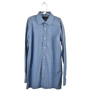 Joseph Abboud Button Down Shirt 14 Blue